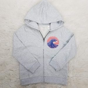 Gymboree Full Zip Hoodie Sweater Sz S 5-6 Gray
